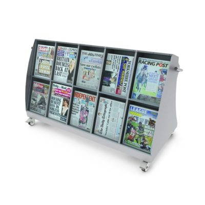 10 Face Low Level Outside Newspaper Display Stand