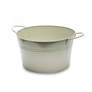 MT022 Large Round Metal Tub - French Grey