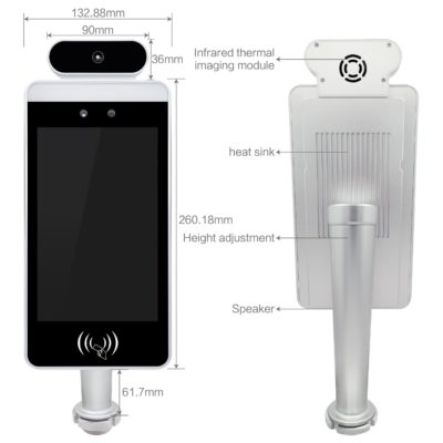 Facial Recognition Thermometer Display Technical Drawing