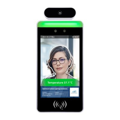 Facial Recognition Thermometer Display - White Background Image (1)