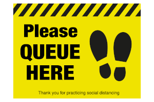 Social Distancing Stickers and Graphics