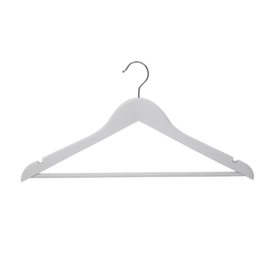 R1007A White Wooden Coat Hangers
